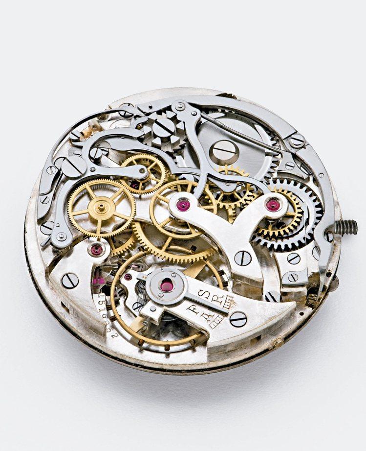 1930年代的19-09HC手上鍊機芯,具有Minerva機芯廠經典的V形橋板。...