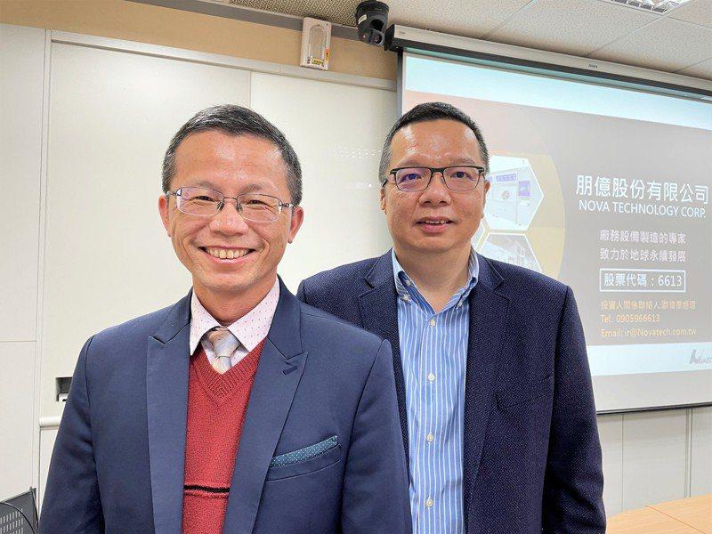 朋億總經理馬蔚(右)及財務長歐俊彥。 記者李珣瑛/攝影