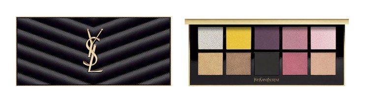 YSL訂製奢華皮革彩妝盤 #01 PARIS/3,600元。圖/YSL提供