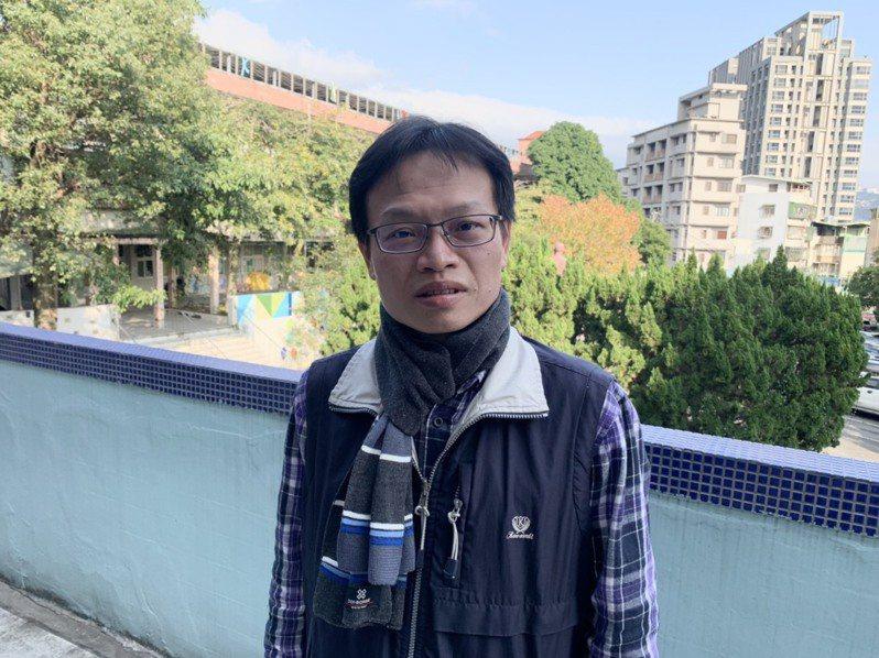 台北市桃源國小資源班教師林文田。記者趙宥寧/攝影