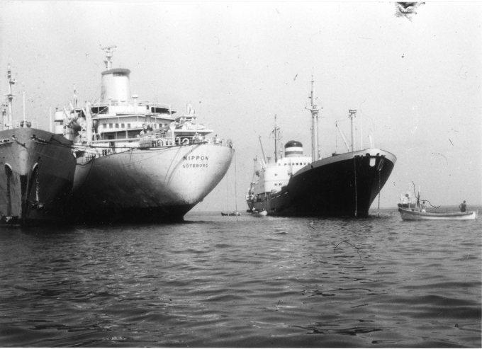 1967年被困在蘇伊士運河長達八年的船隻。圖擷自hapag-lloyd.com