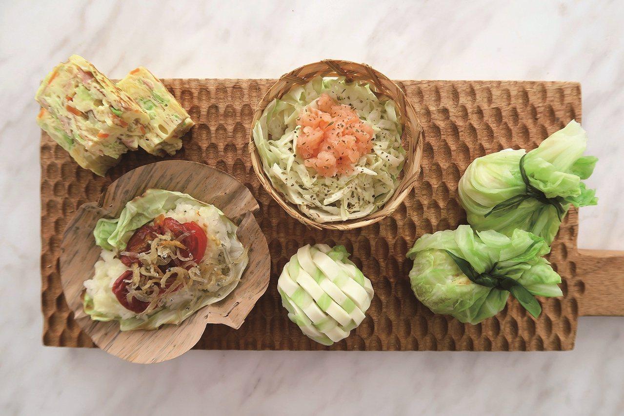高麗菜飯糰組合。 圖/四塊玉文創 提供