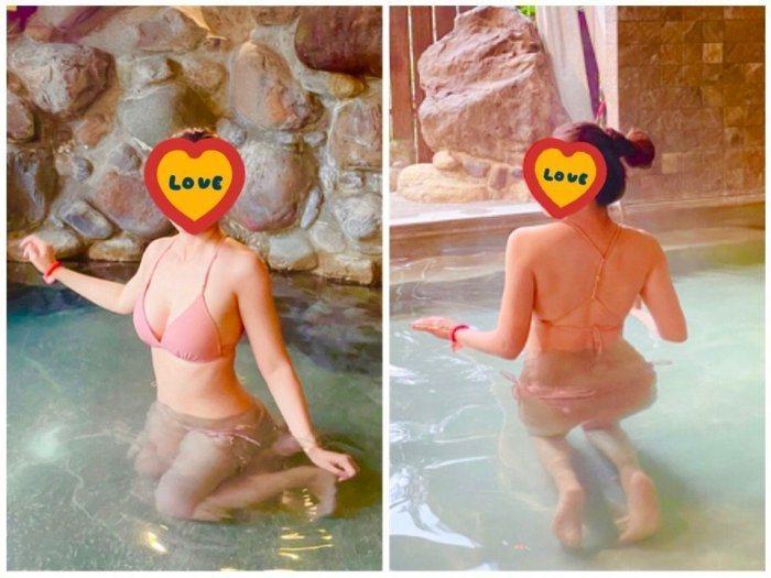 女網友跟男友一家人出遊泡湯,卻因為穿了比基尼,導致對方家長的態度變得有些奇怪。 圖擷自Dcard