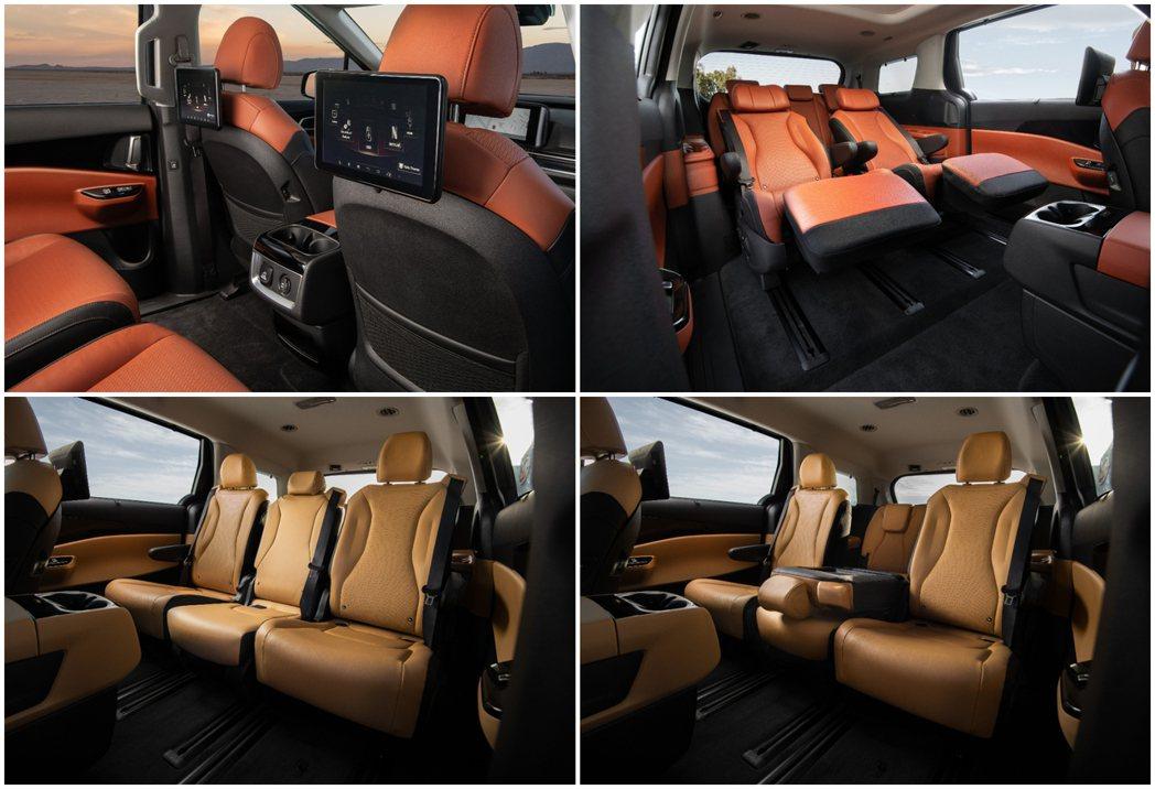大改款美規Kia Carnival僅提供七人與八人座車型。 摘自Kia