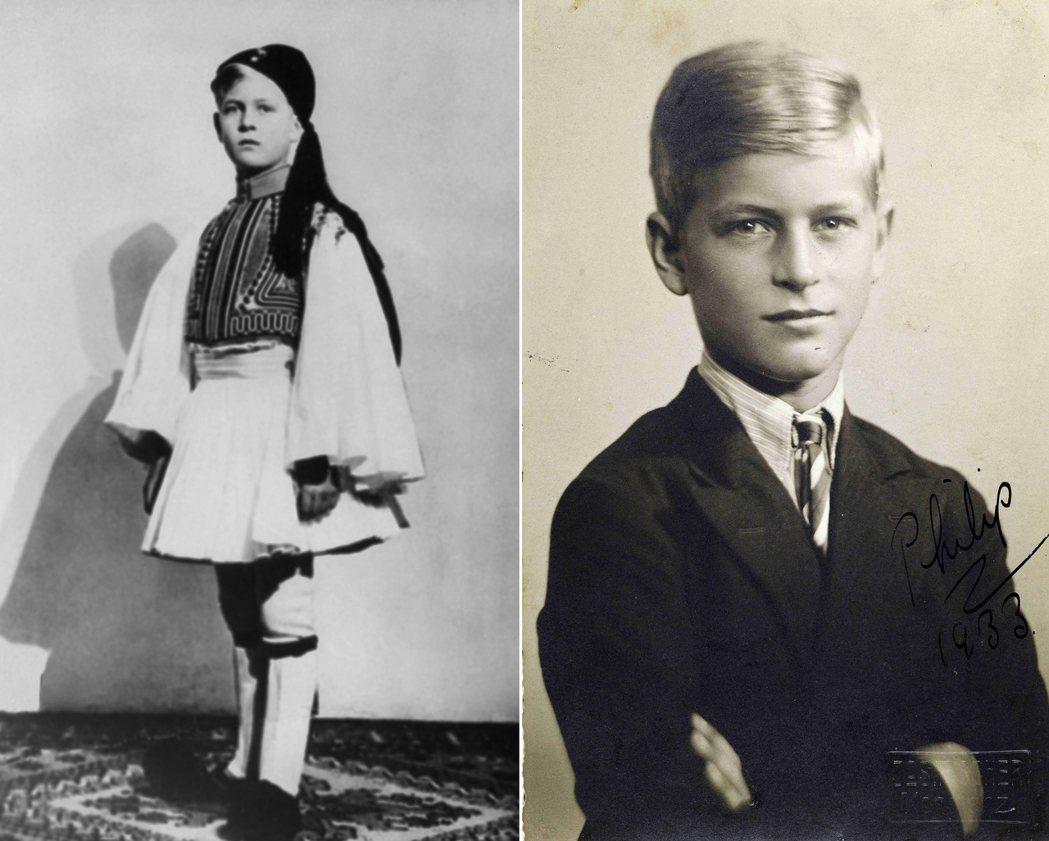 才剛出生就因為希臘王室變動而出逃的菲利浦,少年時光雖然仍銜有希臘貴族的頭銜(左圖...