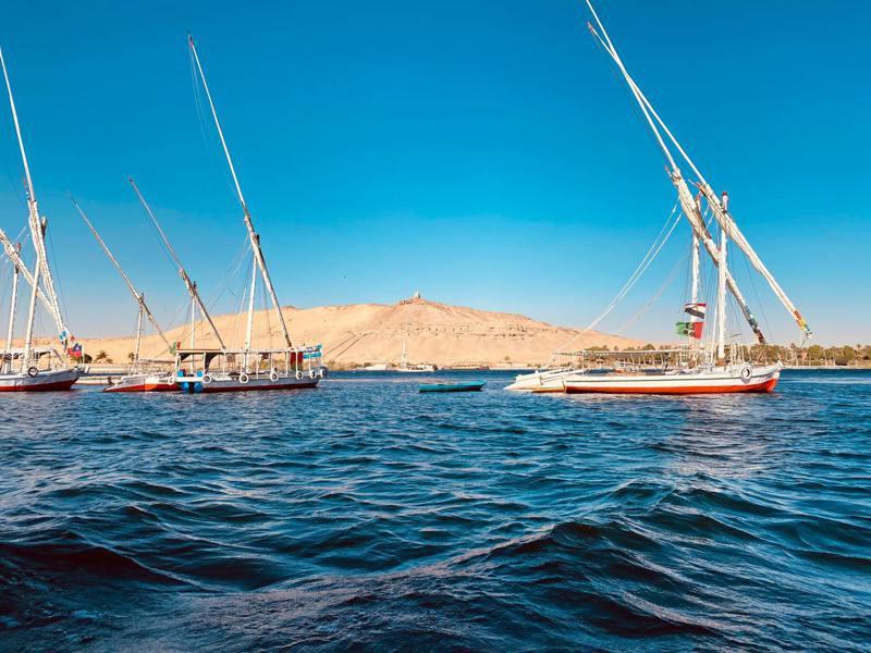 埃及尼羅河畔東岸的亞斯文 (Aswan)。(圖/Unsplash)