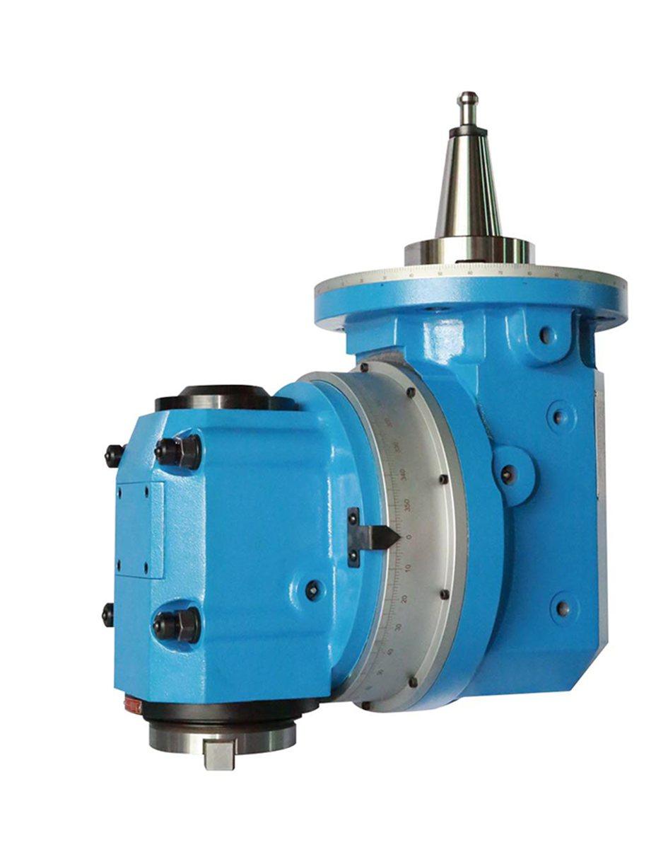 H60-A軸曲齒定位萬象銑頭,為設備提供全面絕佳的製程精度。 凱程功陽/...