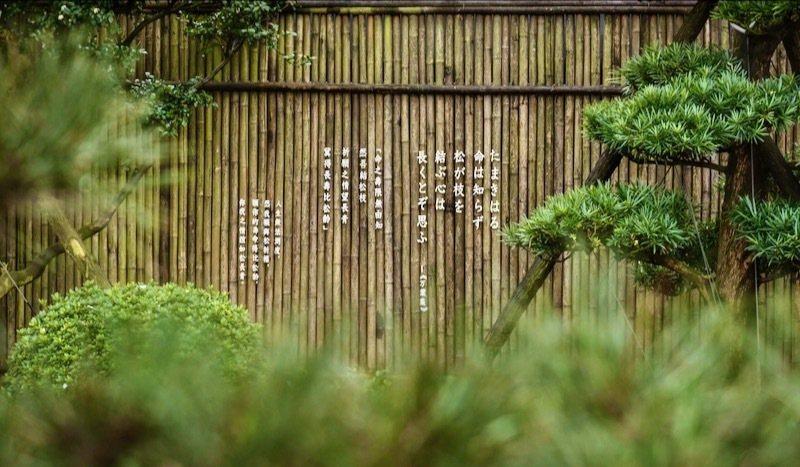 俳句牆(日本古典短詩)/圖片來源【先生的園】的臉書。