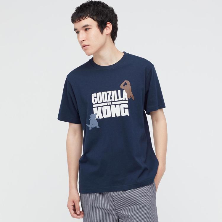 UNIQLO聯名哥吉拉大戰金剛UT系列男裝T恤590元。圖/UNIQLO提供