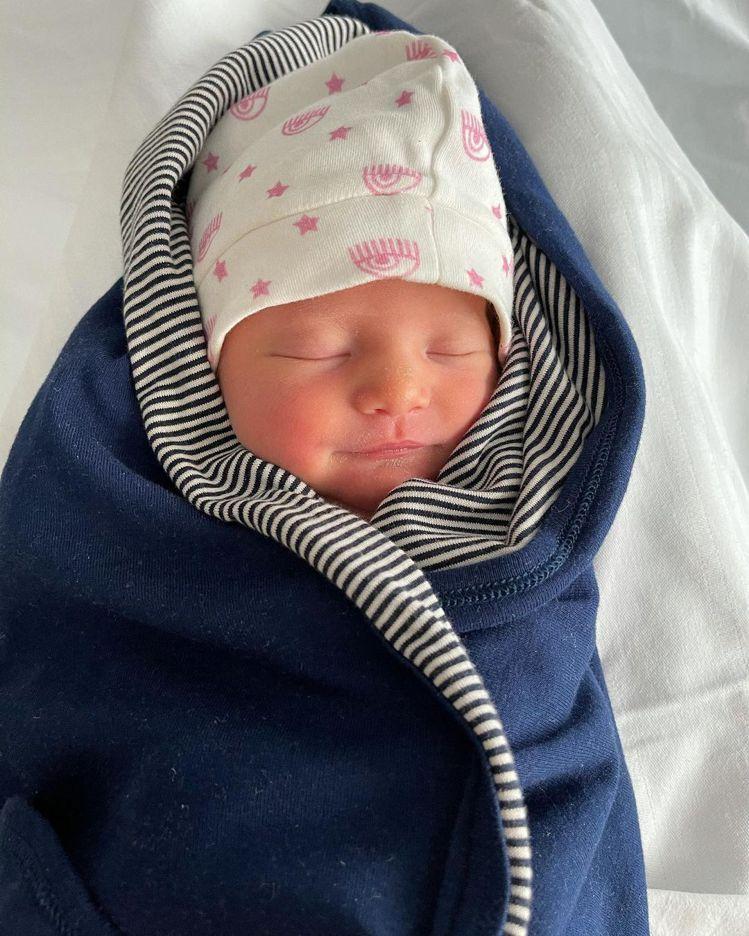 Chiara Ferragni甫出生的小女兒Vittoria相當可愛。圖/取自I...