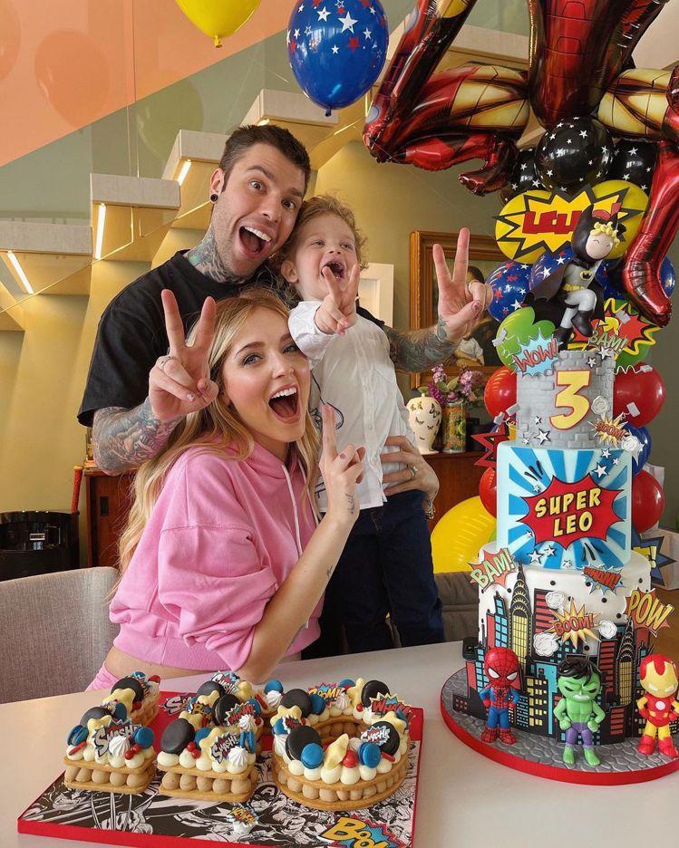 日前Chiara Ferragni和先生Fedez一起慶祝Leo的3歲生日。圖/...
