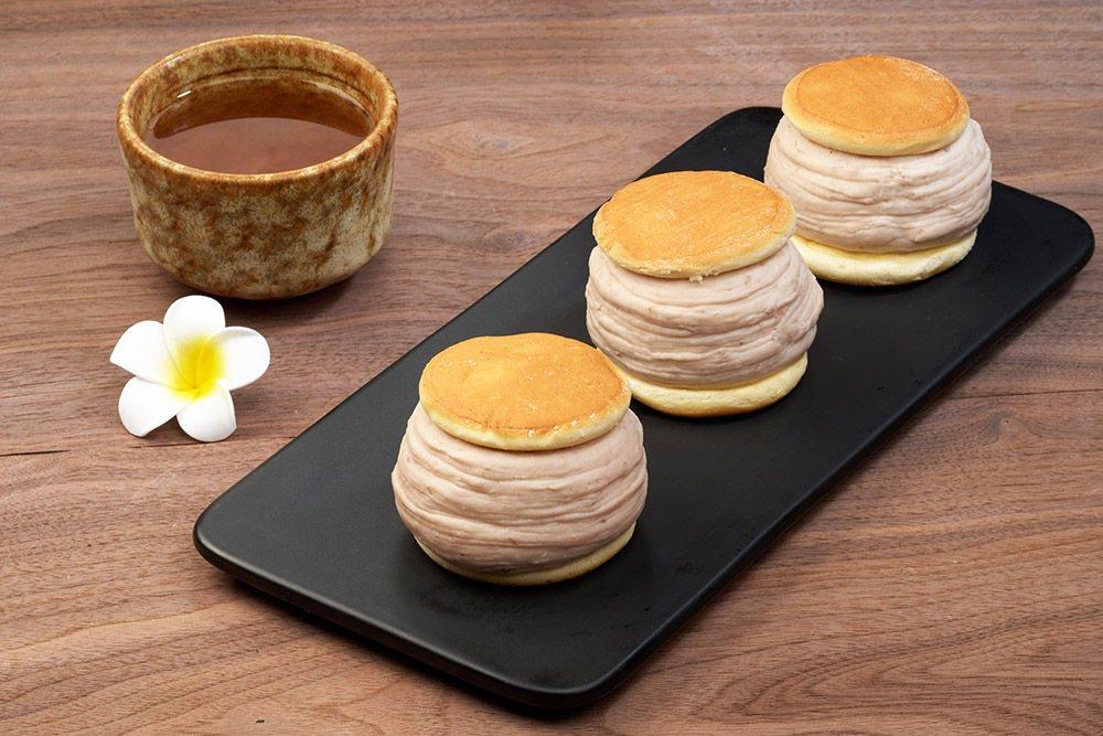 桃園A8新櫃「振頤軒」,推出芋雪燒+芋到泥原價505元,優惠450元。圖/環球購...