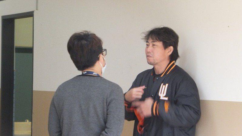 統一獅隊總教練林岳平。 報系資料照