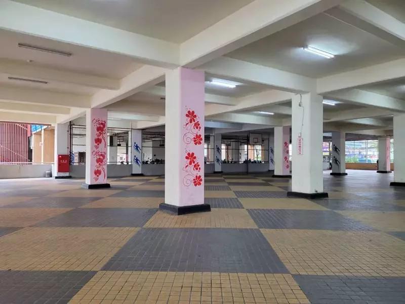 五股立體停車場1樓空間長期閒置,將變公有市場。本報資料照片