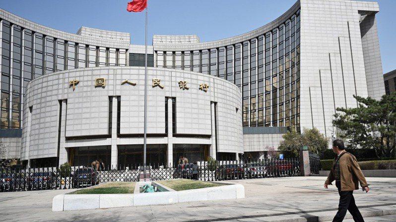 中國人民銀行。(中新社)