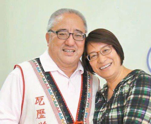 瓦歷斯.貝林與妻子艾碧莫那。 圖/聯合報系資料照片