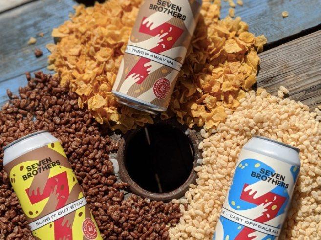 Seven Bro7hers brewing co.精釀啤酒公司利用麥片廠商家樂...