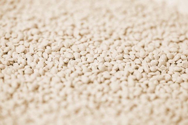 世農新材料研發的拜得康生物基聚合材料原粒。 世農新材料/提供