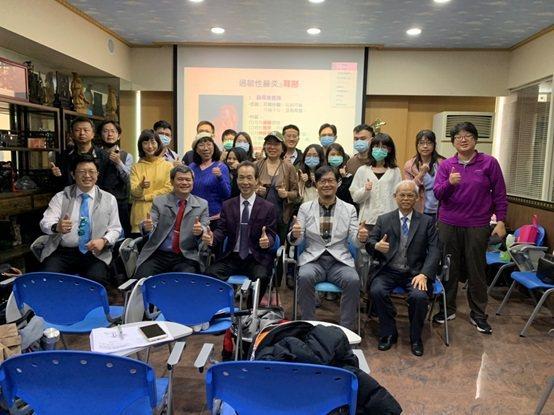參加此次訓練課程的與會人員合影。 台灣中醫耳鼻喉科醫學會/提供