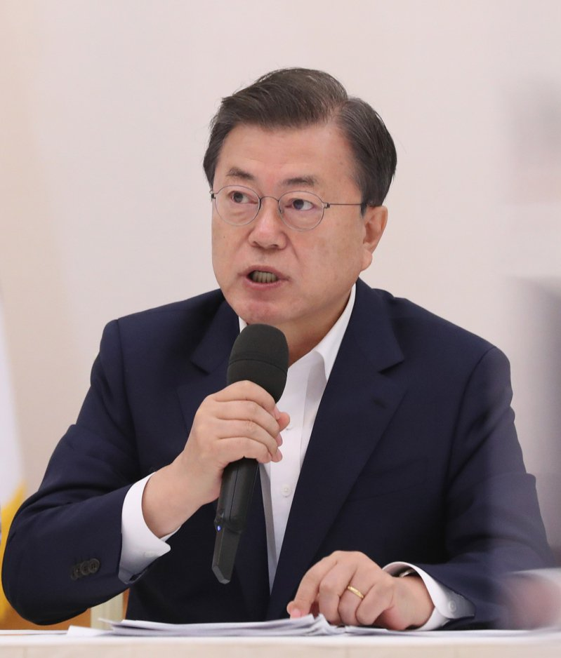 南韓總統文在寅。 歐新社