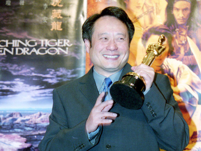 導演李安(圖)以「臥虎藏龍」獲得奧斯卡金像獎最佳外語片。圖為返台的記者會。圖/聯合報系資料照片