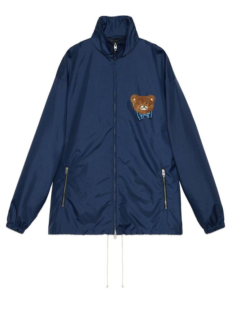 KAI × GUCCI聯名系列藍色外套,70,500元。圖/GUCCI提供
