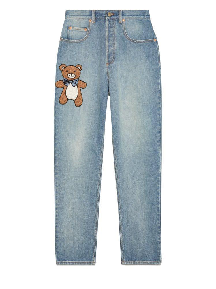KAI × GUCCI聯名系列女士牛仔褲,34,000元。圖/GUCCI提供
