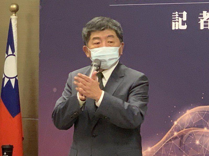 衛福部長陳時中表示,沒有卡國光助高端成第一的這種情況。記者陳雨鑫/攝影