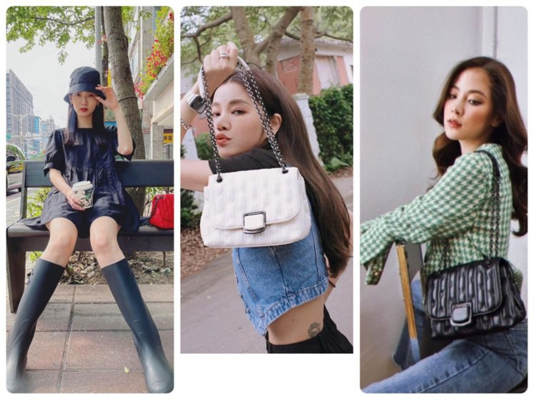 曾之喬、許路兒、泰國女星Baifern詮釋Brioche手袋。圖/取自IG