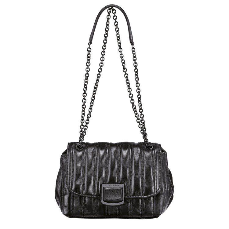 Brioche黑色斜背袋,26,400元。圖/LONGCHAMP提供