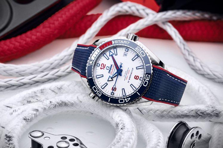 OMEGA 海馬Planet Ocean第36屆美洲盃限量版腕表,表面上並印記3...
