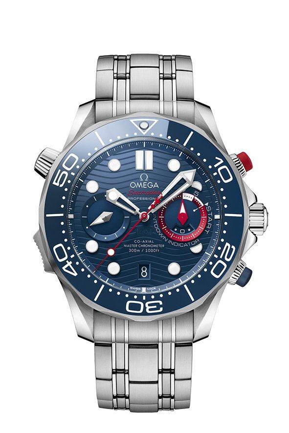 OMEGA 海馬潛水300米美洲盃計時碼表,限量2,021只,33萬6,000元...