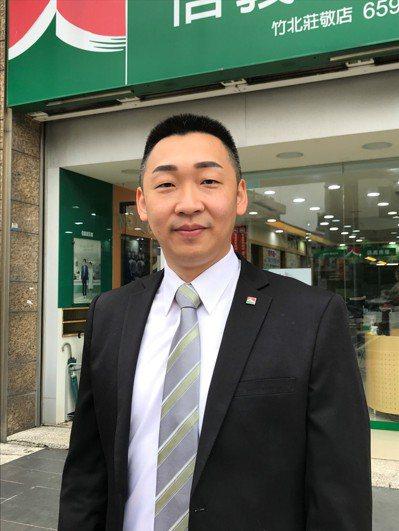 信義房屋竹北莊敬店經理彭厚誠。記者李珣瑛/攝影