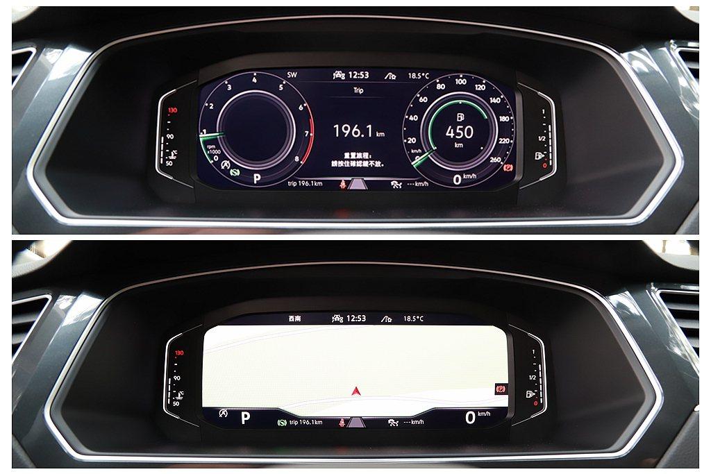 Digital Cockpit Pro 10.25吋全邏輯數位儀表,具備多重資訊...