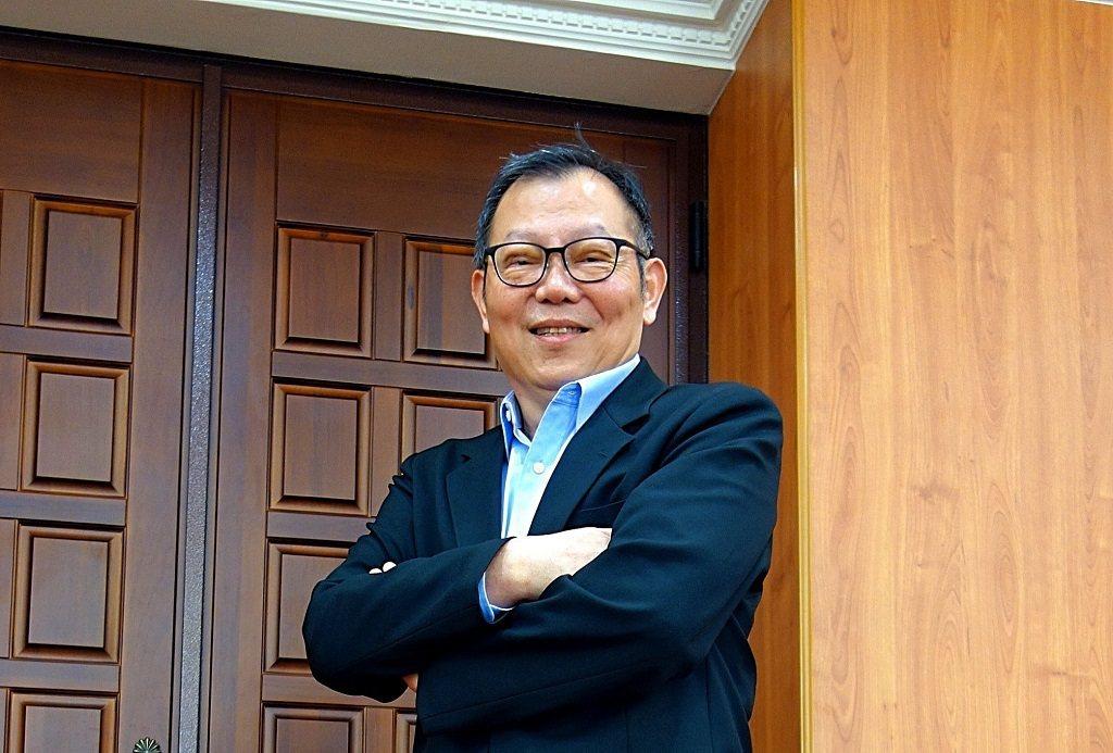 陽明大學與交通大學今年完成併校,林奇宏擔任首位校長。(攝影/程芷盈)