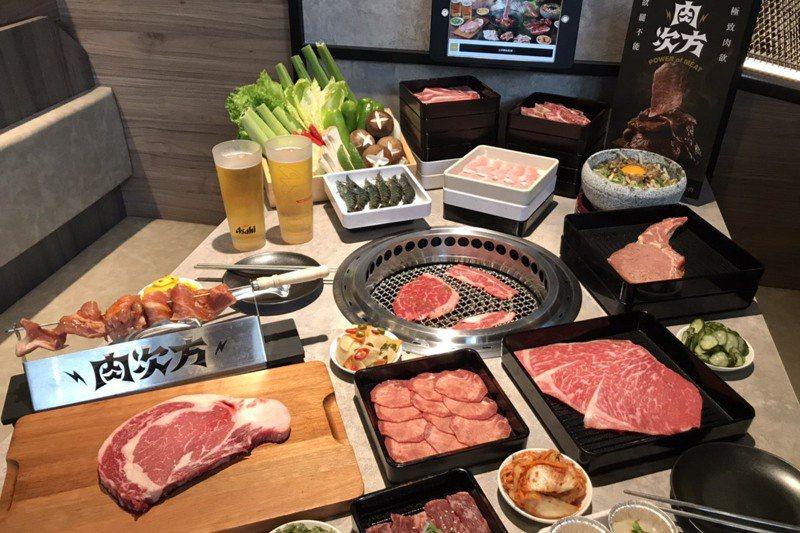 利用王品專屬App,在所有品牌用餐都能積點。圖為王品旗下燒肉吃到飽品牌「肉次方」。圖/聯合報系資料照片
