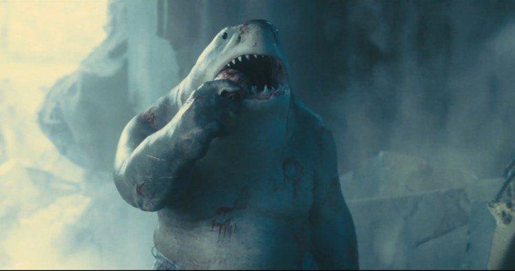席維斯史特龍在「自殺突擊隊集結」配音鯊魚王。圖/華納兄弟提供
