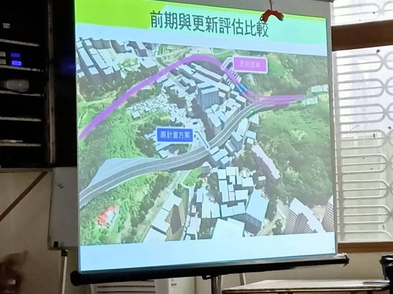 公路總局舉行台62跨越基金二路延伸萬里說明會。記者游明煌/翻攝