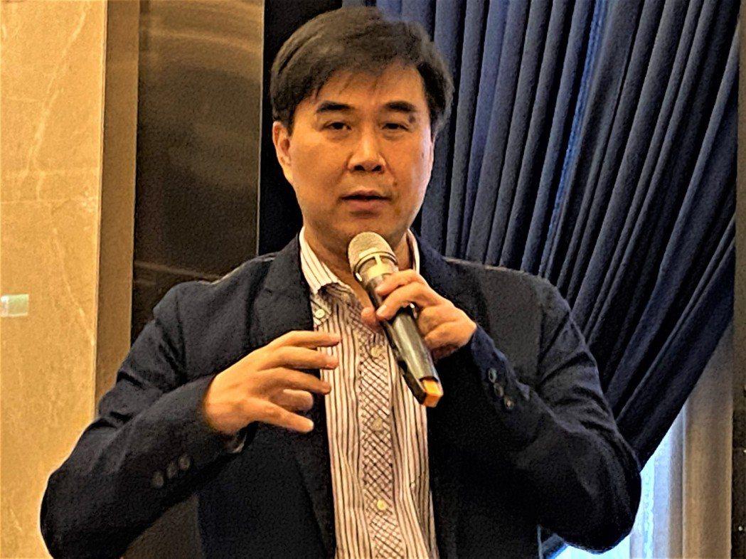 安聯人壽總經理林順才3月27日簡報該公司營運展望。記者陳怡慈/攝影