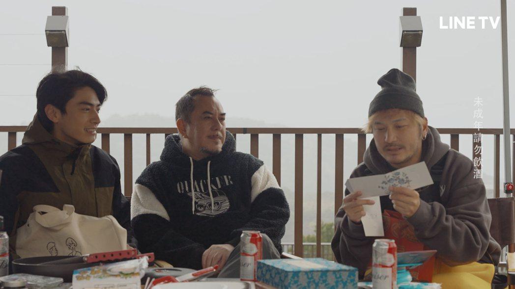 宋柏緯寫信感謝黃秋生和KID照顧。圖/LINE TV提供