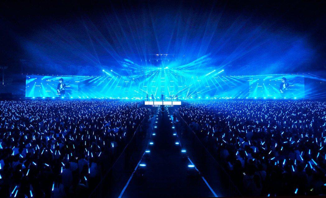 五月天連著2個周末在台南舉辦「好好好想見到你」演唱會。圖/相信音樂提供