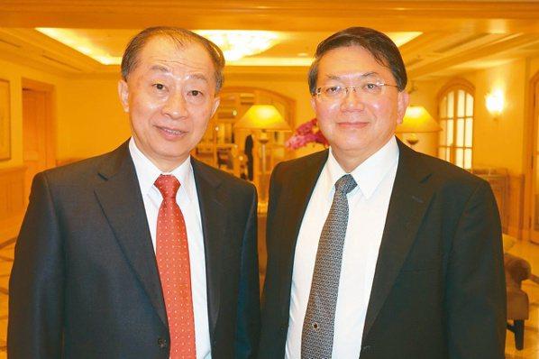 台康生技董事長李重和(左)與總經理劉理成(本報系資料庫)