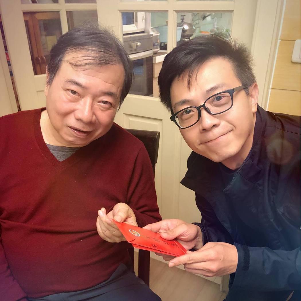 廖峻與兒子廖錦德。 圖/擷自臉書