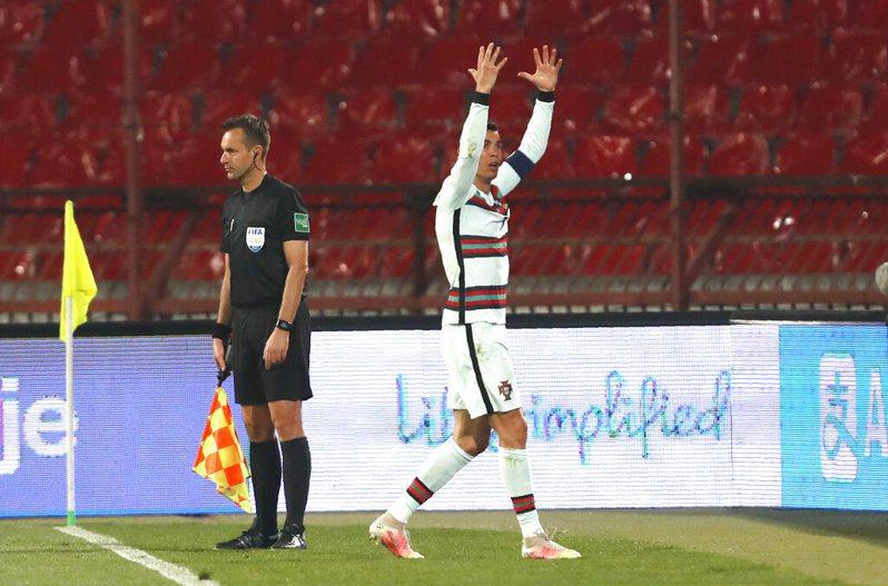 葡萄牙超級球星「C羅」羅納度。 美聯社