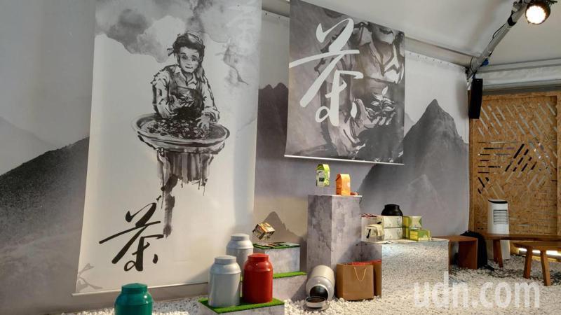 綠色博覽會「花蓮館」以茶、果、稻為農展行銷主題。 記者戴永華/攝影