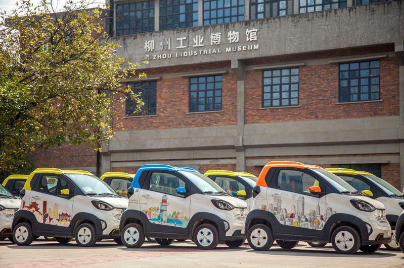 中國大陸五大汽車城之一柳州,新能源汽車產量占比達十分之一。(中新社)