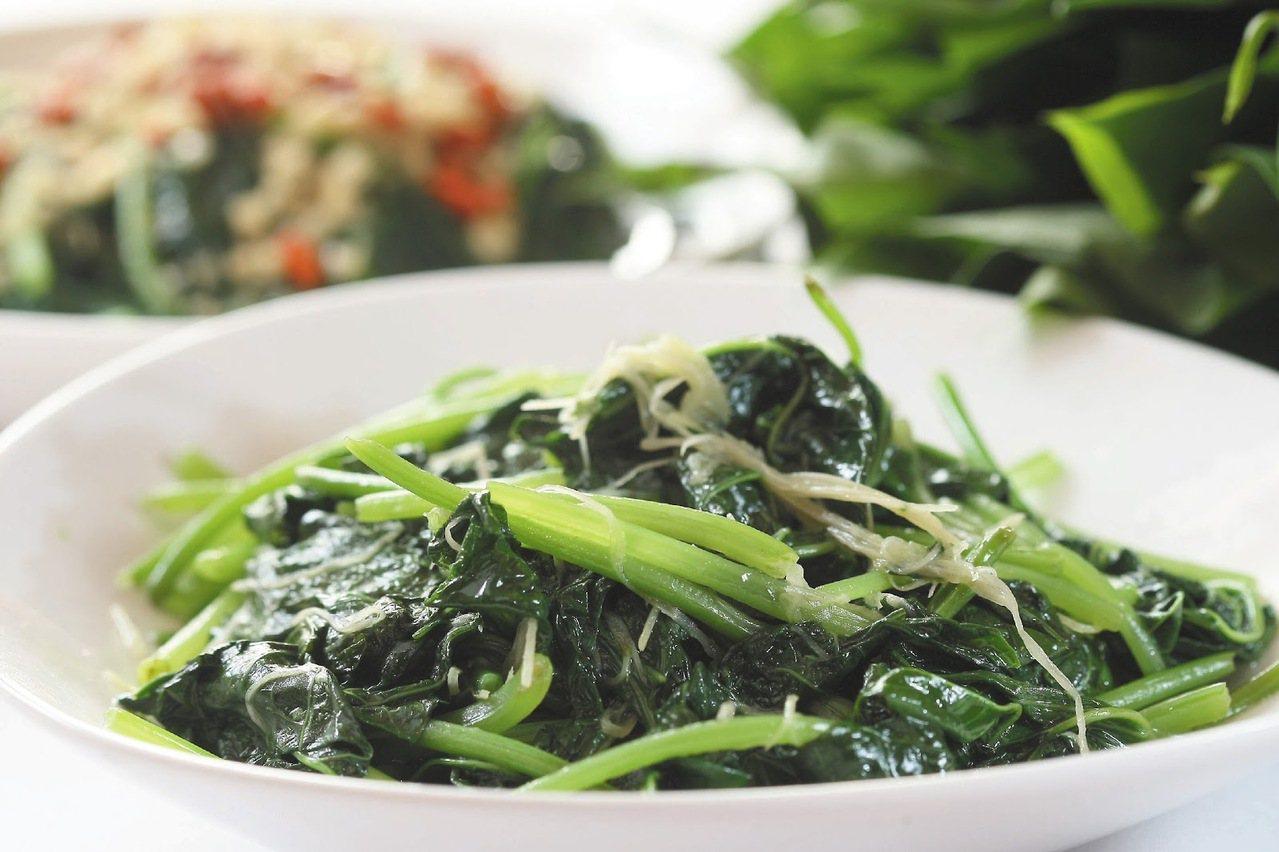 營養又美味的地瓜葉,是現今的蔬菜新選擇。 圖/聯合報系 提供
