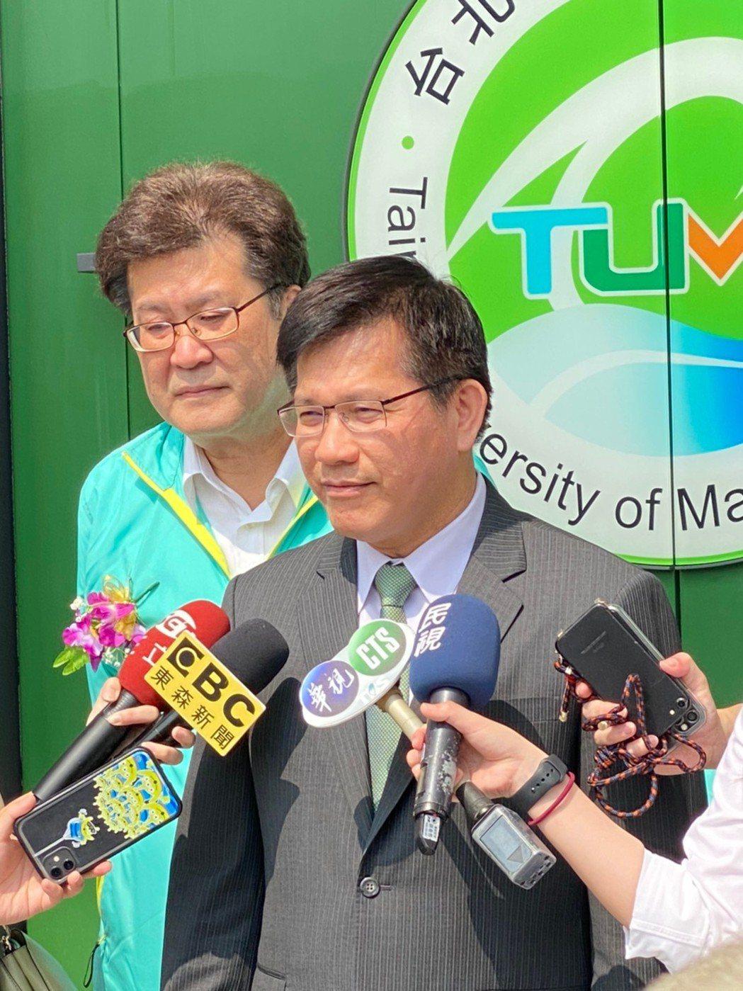 交通部林佳龍部長親臨台北海大55週年校慶。 台北海大/提供。