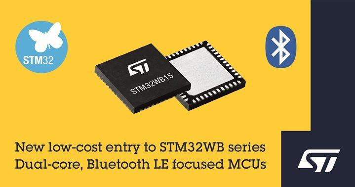 意法半導體推出集經濟性、便利性及性能於一身的新STM32WB無線微控制器。 意法...