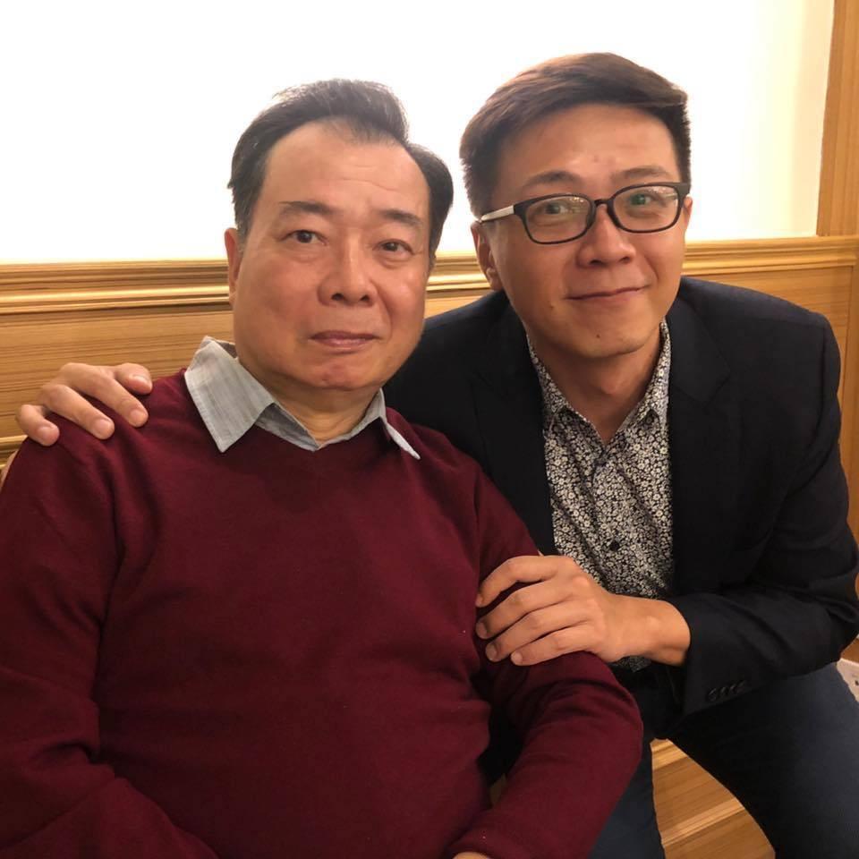 廖峻(左)與廖錦德父子都是演員。圖/摘自臉書